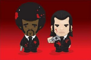 Pulp Fiction - Vincent & Jules Cartoon