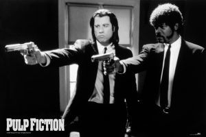 Pulp Fiction - Black and White Guns