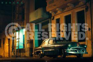 Cuba - Green Car
