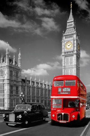 London - Big Ben Bus