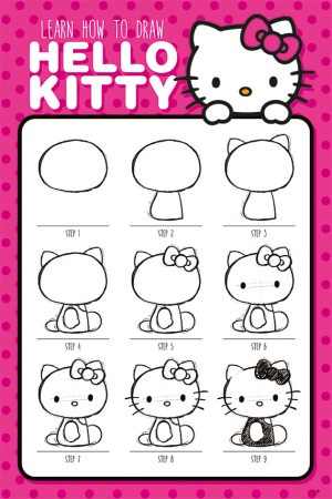 Hello Kitty - How to Draw