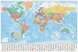World - Map and Flags